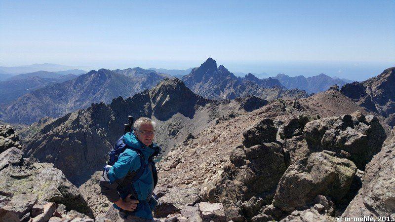Am Gipfel des Monte Cinto, während unserer Korsikarundreise