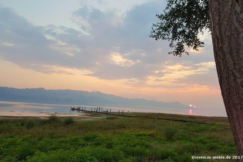 Sonnenuntergang am Shkodra-Sees