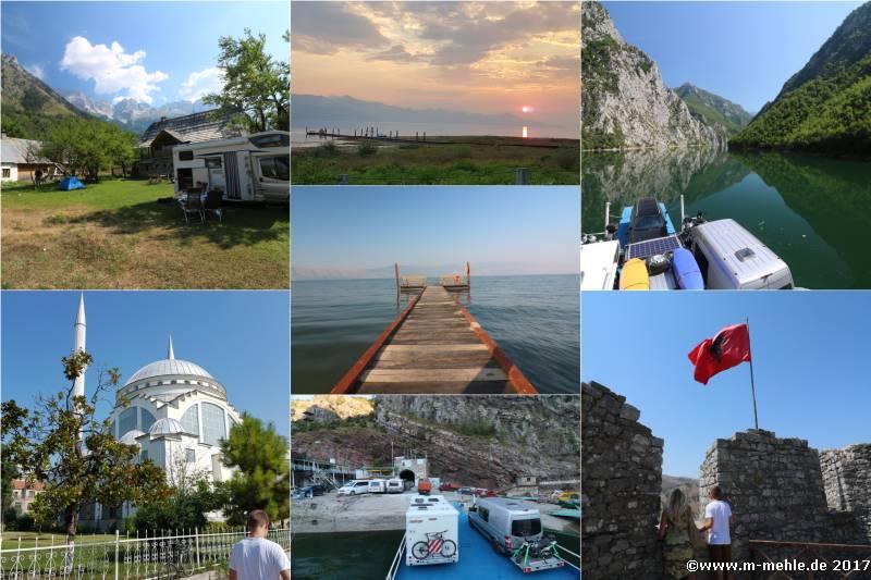 Eine Collage von Bildern aus Albanien