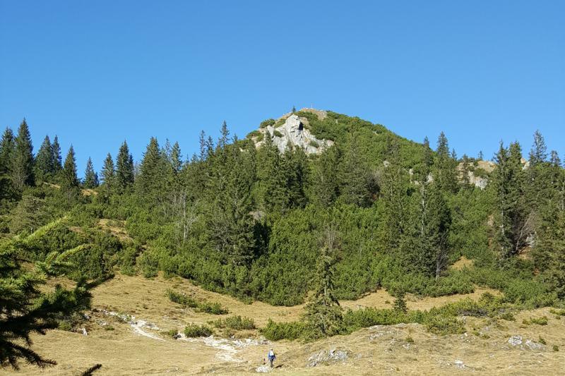 Blick zum Schildenstein nach dem Aufstieg durch die Wolfschlucht
