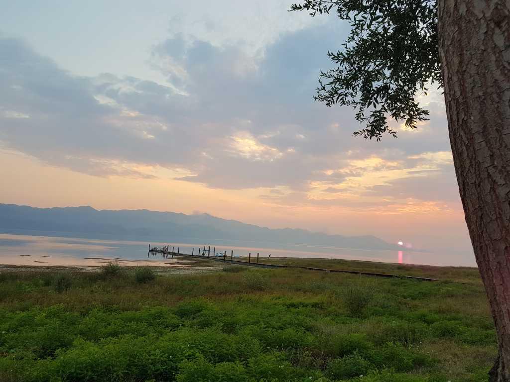 Abendstimmung am Shkodra See in Albanien
